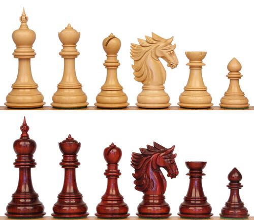 "Bucephalus Staunton Chess Set with Padauk & Boxwood Pieces - 4.5"" King"