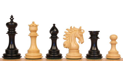 "Marengo Staunton Chess Set Ebony and Boxwood Pieces 4.25"" King"