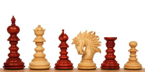 """Marengo Staunton Chess Set Padauk and Boxwood Pieces 4.25"""" King"""
