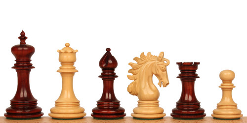 "Marengo Staunton Chess Set Padauk and Boxwood Pieces 4.25"" King"