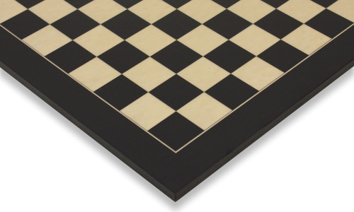 """Black & Erable Deluxe Chess Board - 2.125"""" Squares"""