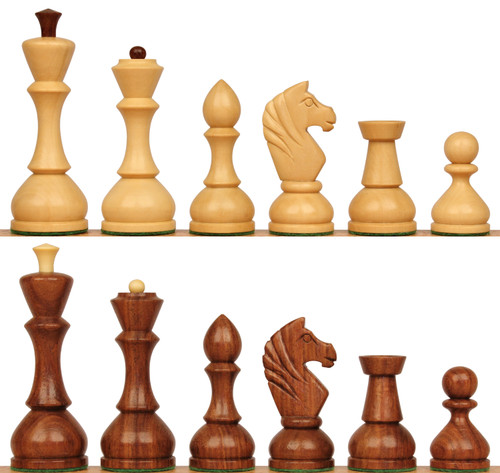 Russian Playing Set Antique Reproduction Chess Set Golden Rosewood & Boxwood Pieces