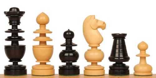 French Regency Antique Reproduction Chess Set Ebony & Boxwood Pieces