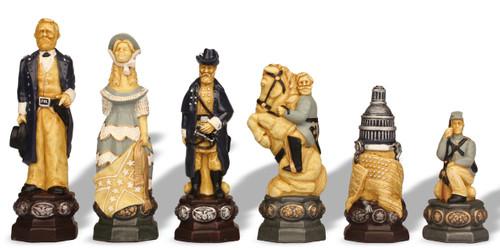 Large Civil War Theme Chess Set