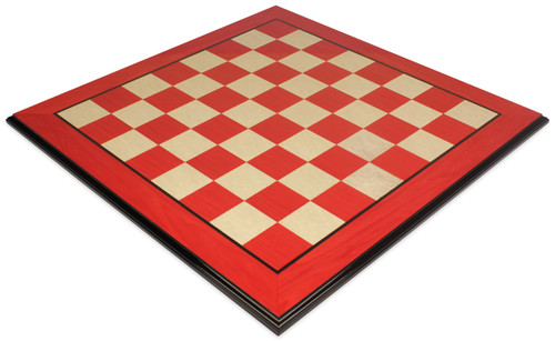 """Red & Erable Molded Edge High Gloss Chess Board - 2.75"""" Squares"""