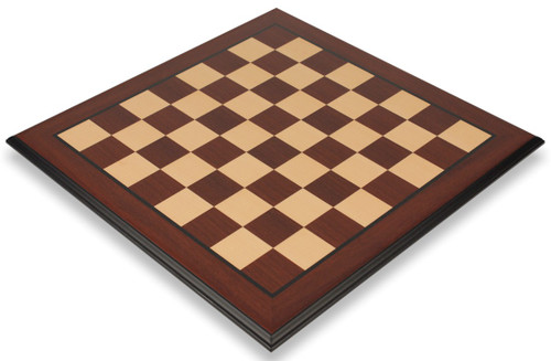 """Red Sandalwood & Maple Molded Edge Chess Board - 2.375"""" Squares"""