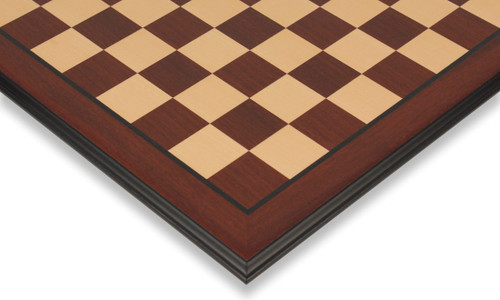 """Bud Rosewood & Maple Molded Edge Chess Board - 2.375"""" Squares"""