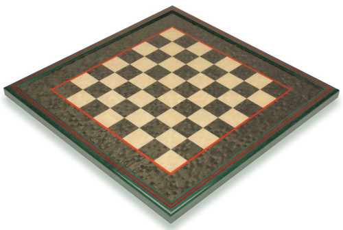 """Green & Erable Framed Chess Board - 1.5"""" Squares"""