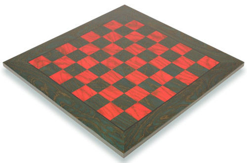 "Italfama Green & Red Chess Board - 1.5"" Squares"