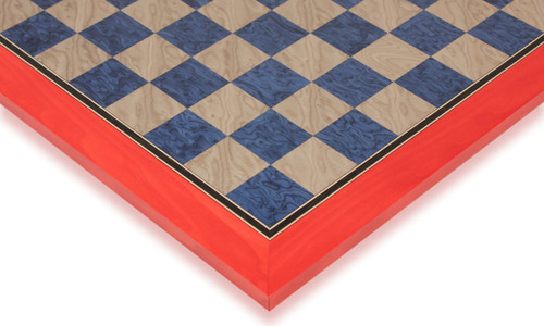 """Civil War Blue & Gray High Gloss Deluxe Chess Board - 2.125"""" Squares"""