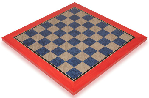 """Civil War Blue & Gray High Gloss Deluxe Chess Board - 2.375"""" Squares"""