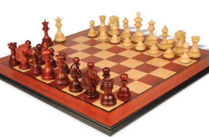 Chess Sets with Molded Edge Padauk Chess Board
