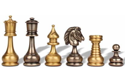 Traditional Style Metal Chess Pieces