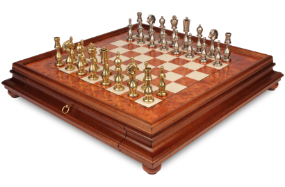 Metal Chess Sets w/ Cases
