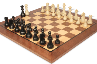 Plastic/Resin Chess Sets with Wood Boards