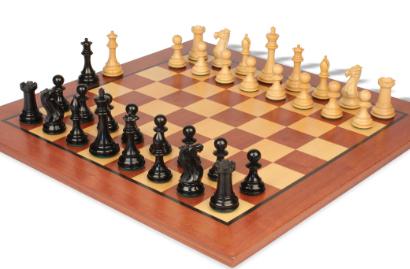 Chess Sets w/ Classic Mahogany & Maple Chess Board