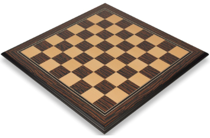 Tiger Ebony & Maple Molded Edge Chess Boards