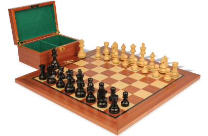 Wood Chess Sets with Boards & Boxes