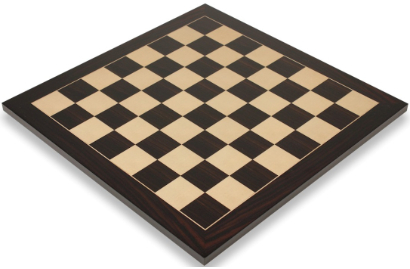 Classic Macassar Ebony & Maple Chess Boards