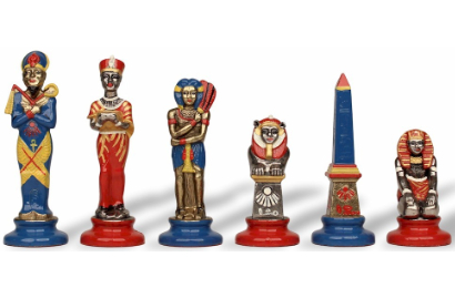 Hand Painted Metal Chess Pieces