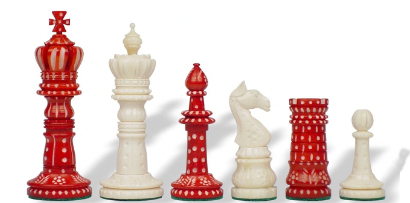 Bone Artisian Chess Pieces
