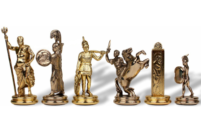 Metal Themed Chess Pieces