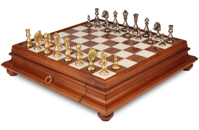 Metal Chess Sets with Cases