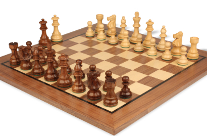 Chess Sets w/ Classic Walnut Chess Board