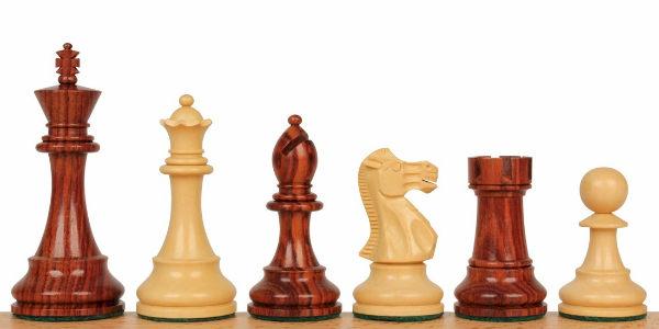 Rosewood & Boxwood Chess Pieces