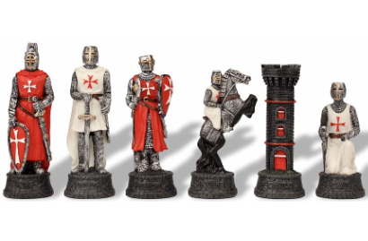 Crusades Theme Chess Pieces
