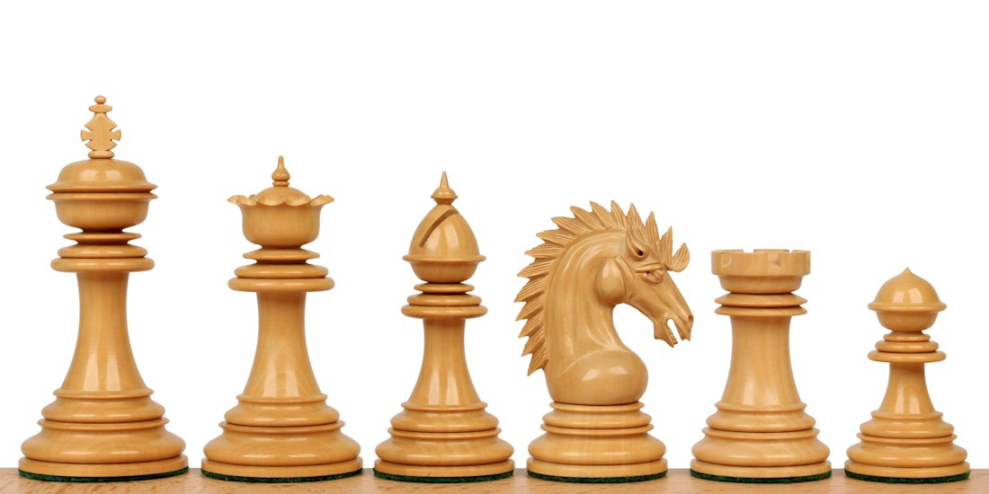 Cyrus Staunton Wood Chess Pieces
