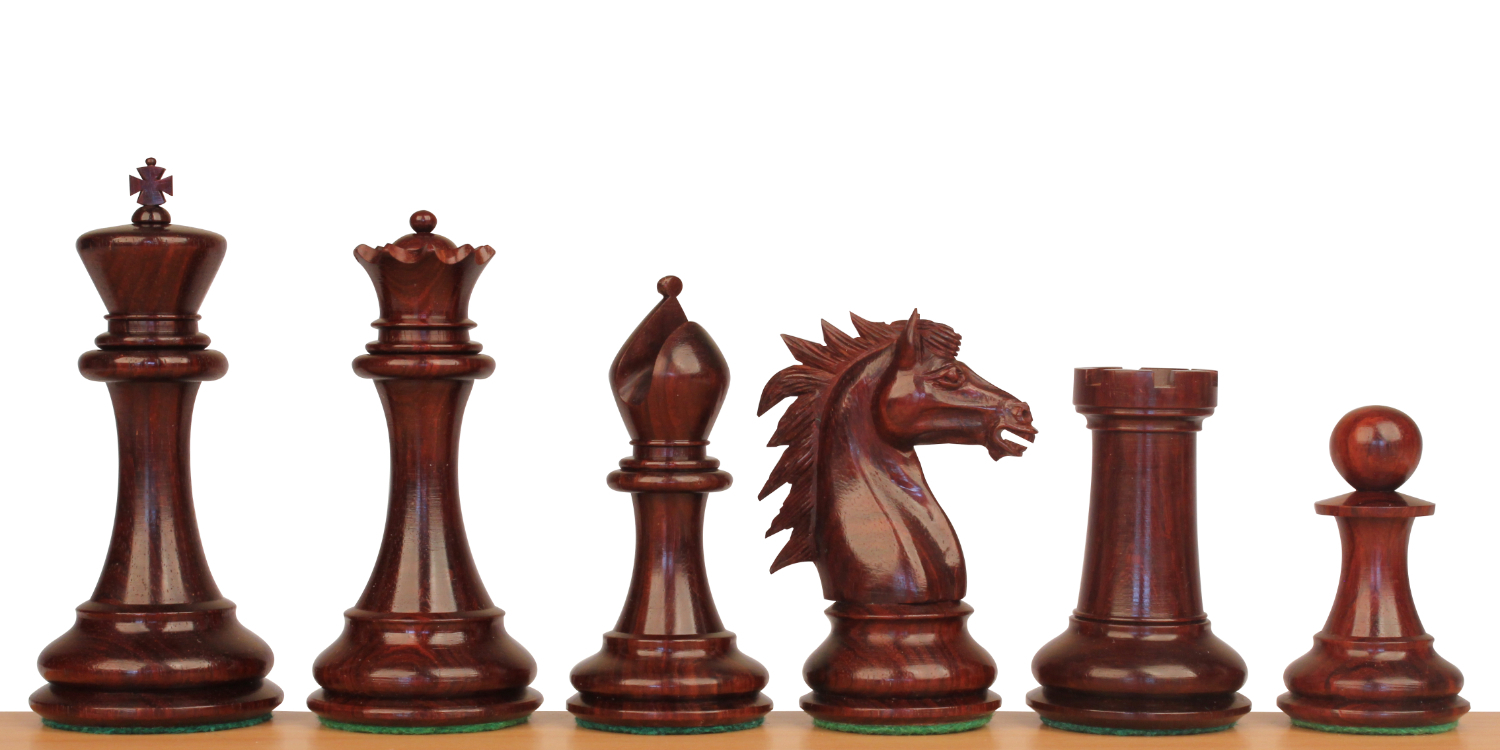 Red Sandalwood & Boxwood Chess Pieces