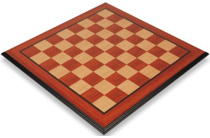 Padauk & Bird's-Eye Maple Molded Edge Chess Boards