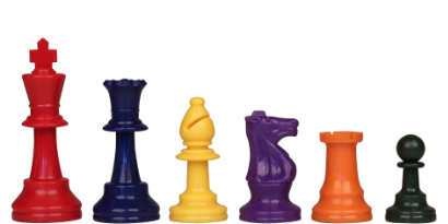 The Rainbow Plastic Chess Pieces