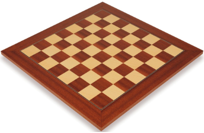 Mahogany & Maple Deluxe Chess Boards