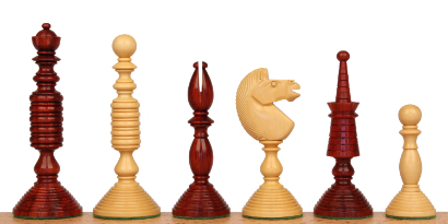Antique Reproduction Wood Chess Pieces