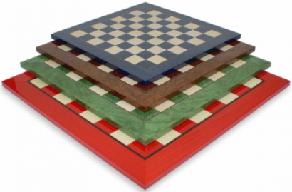 Stained Wood Chess Boards