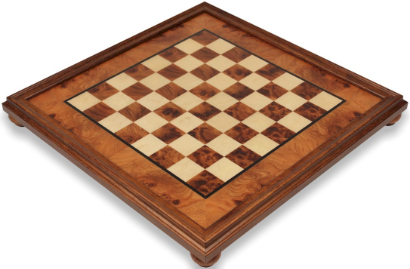 Italfam Elm Burl & Maple Framed Chess Boards