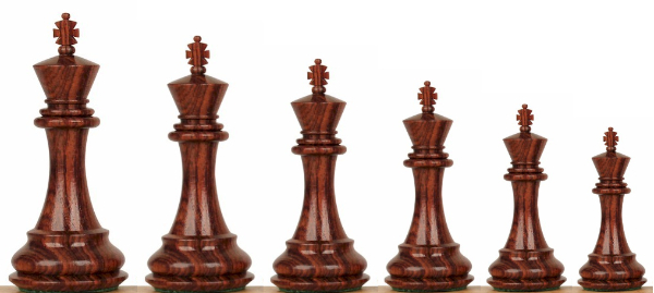 Wood Chess Pieces by Size