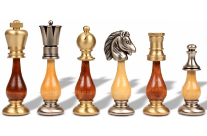Metal & Wood Chess Pieces