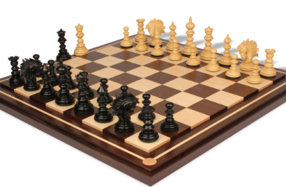 Chess Sets with Mission Craft Walnut Chess Board