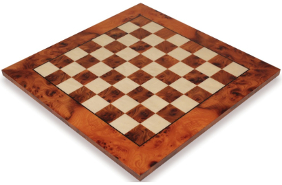 Italfama Elm Burl & Maple Chess Boards