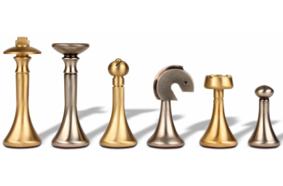 Unique & Contemporary Metal Chess Pieces