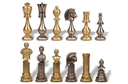Solid Metal Chess Pieces