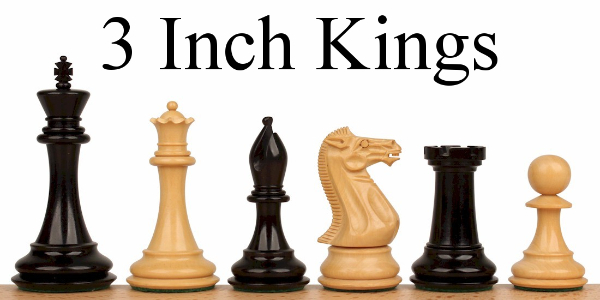 "Chess Pieces with 3"" King"
