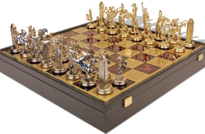 Manopoulos Metal Chess Sets