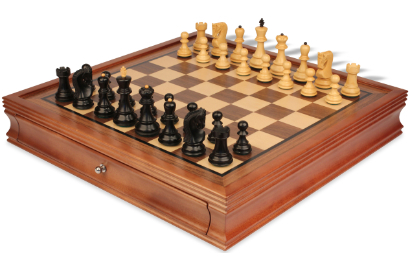 Wood Chess Sets with Cases