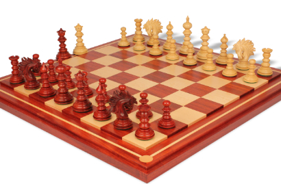 Chess Sets with Mission Craft Padauk Chess Board