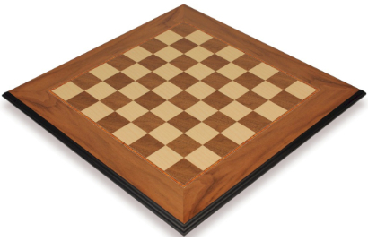 Walnut & Maple Molded Edge Chess Boards