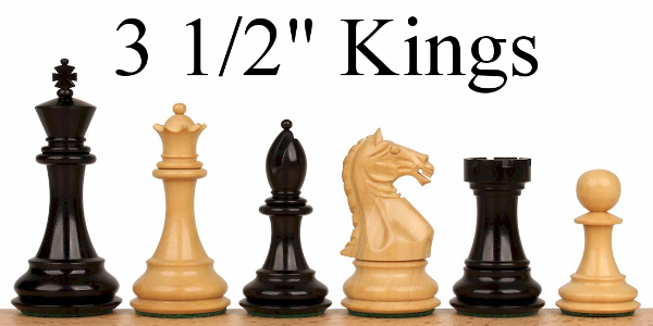 "Chess Pieces with 3.5"" King"